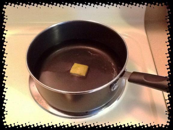 Veggie bouillon waiting to boil.
